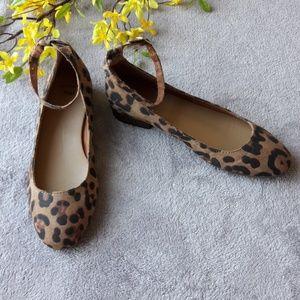 Gap Jaguar Print Ankle Strap Flats